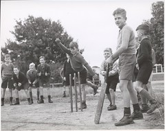 Drouin schoolboys playing cricket, Drouin, Vic...