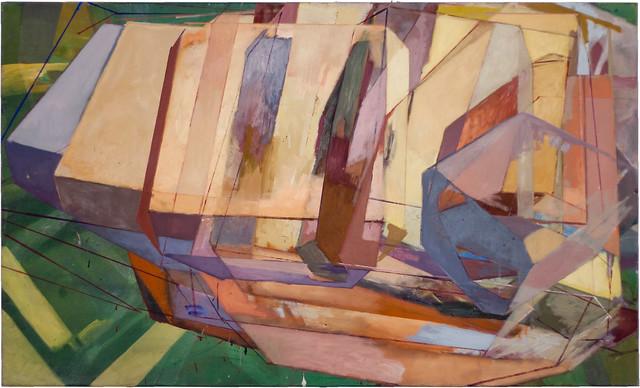 CASCADES, 90x150cm, EitemperaPigmente auf Nessel, 2010