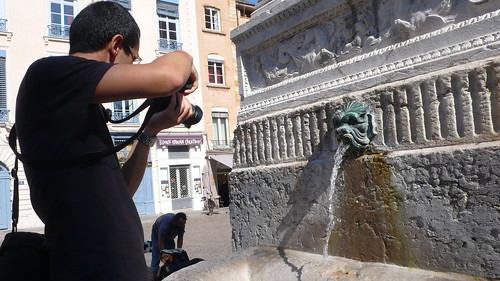 Le photographe de la fontaine