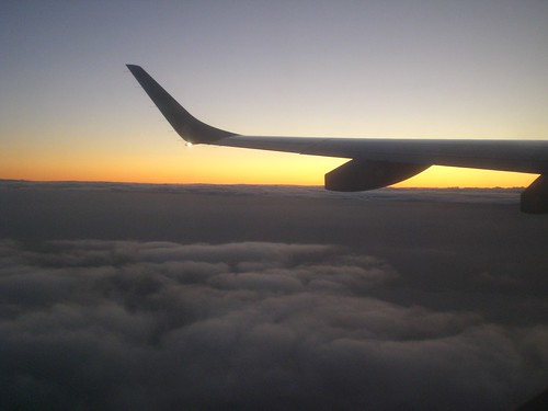 Sunrise from plane