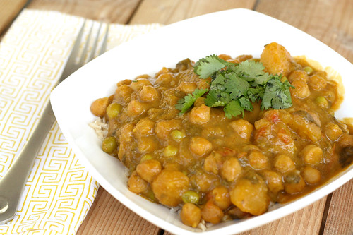 Butternut Squash & Chickpea Coconut Curry (Crock Pot Recipe)