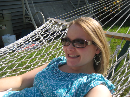 me in hammock at mom and dad's