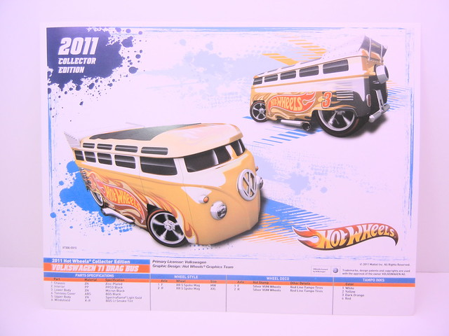 hot wheels k mart day vw drag bus e sheet