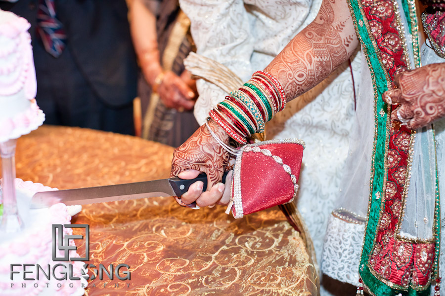 Cutting Cake | Shamz & Sana's Wedding Day 3 | Zyka Indian Banquet Hall Decatur | Atlanta Indian Photographer