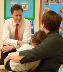 Nick Clegg visits Marsham Street Community Nursery, part of the London Early Years Foundation