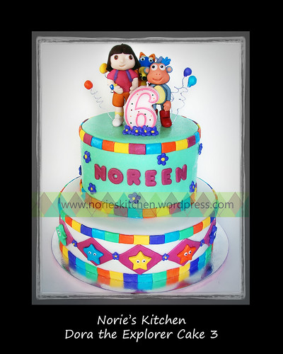 Norie's Kitchen - Dora the Explorer Cake 3 by Norie's Kitchen