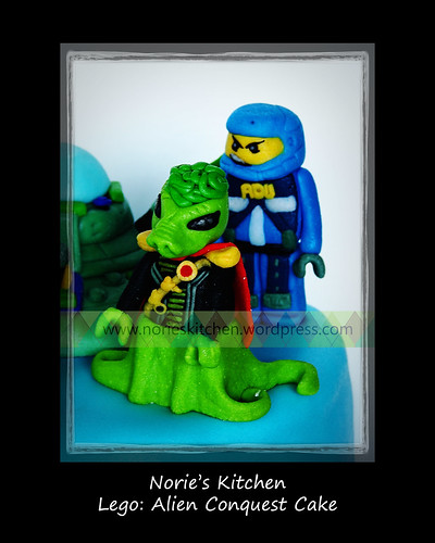 Norie's Kitchen - Lego - Alien Conquest Cake, a photo by Norie's Kitchen on Flickr.