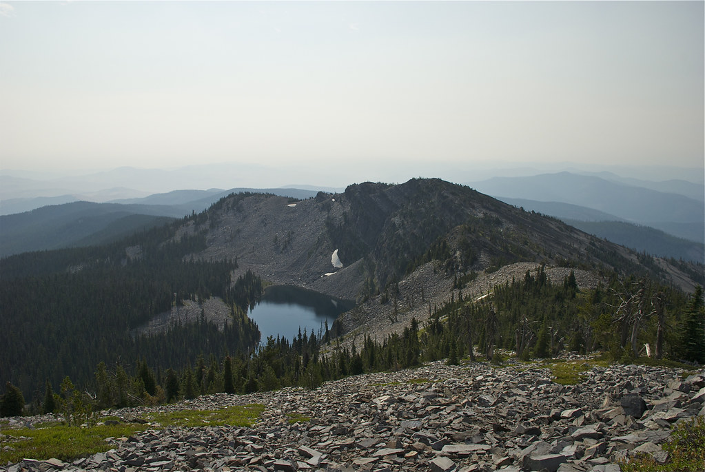 Baldy Lake in the smoke