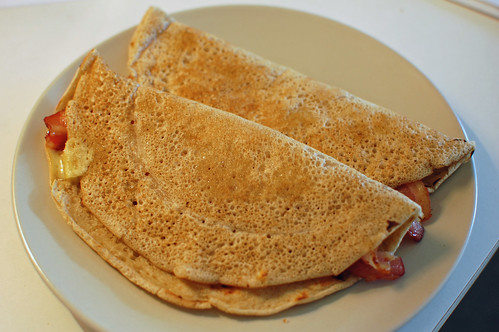 Staffordshire Oatcakes with Bacon and Cheese