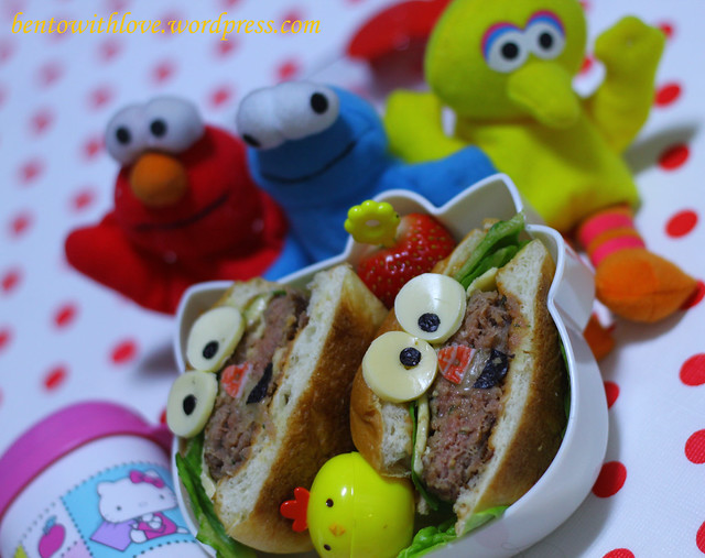 Burger Monster Bento for her