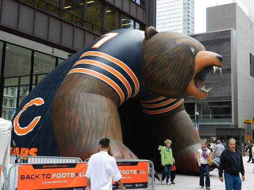 Uh Oh!  Giant Bear in City!  Run! by Chicago Man, on Flickr
