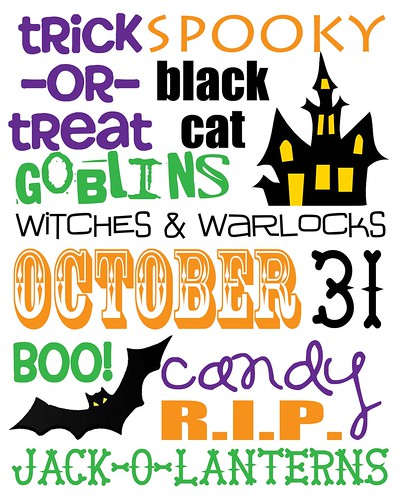 Halloween Subway Tile Free Printable