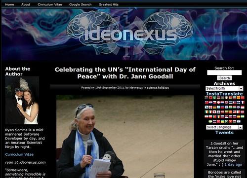 Jane Goodall on Ideonexus