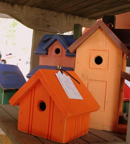 Orange Birdhouses