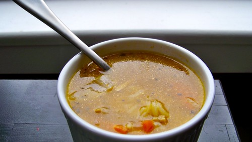 Roasted Chicken and Rice Soup