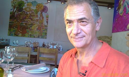 Felipe Loza en los previos de la grabacion en Larruzz para LaVisita TeleBilbao by LaVisitaComunicacion