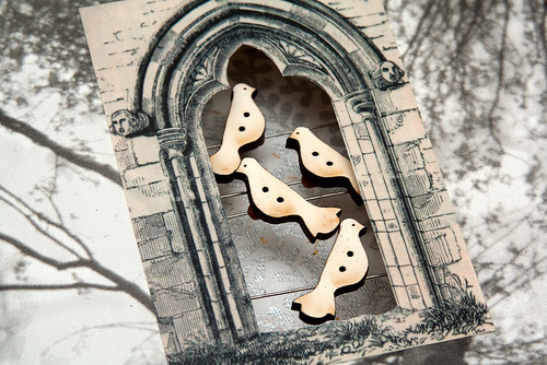 Altered Books: The Dovecote - detail