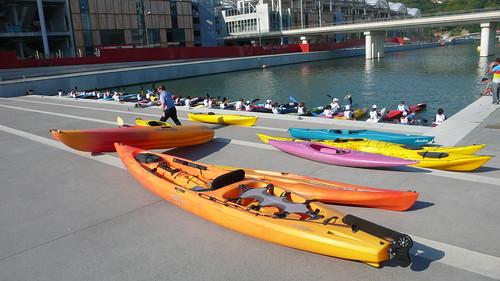 Compétition Kayak - Lyon - Confluence