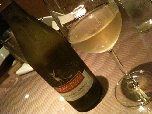 白ワインで乾杯!@Grotta Azzurra