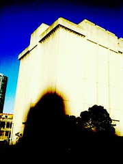 The glorious featureless grooved monolith of Embarcadero Substation, Folsom & Fremont. Taken using Camera Zoom FX on Android