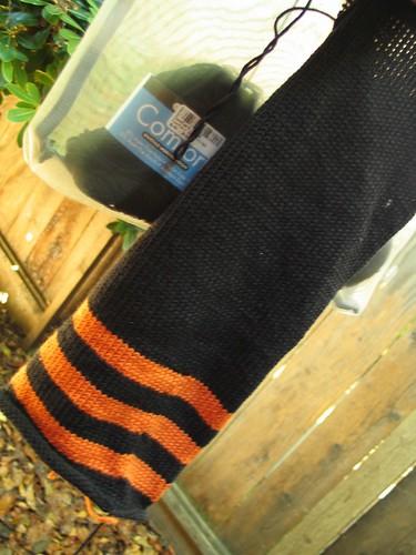 giants zito socks scarf in progress