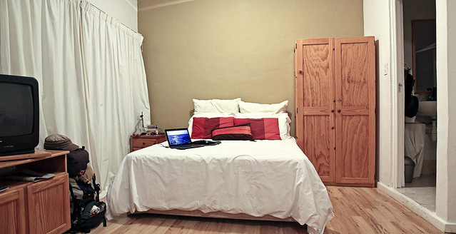 the bedroom side