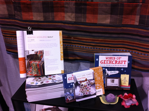 My books + Winter Woolens Quilt at the NW Quilting Expo