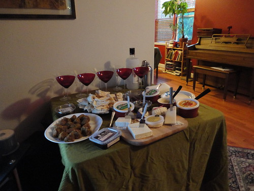 The hors d'oeuvres table