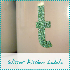 glitter Kitchen labels