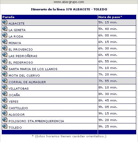 ASISA Albacete-Corral de Almaguer- Toledo