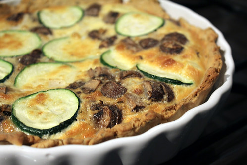 Courgette and Mushroom Quiche (6/6)