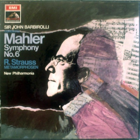 UK EMI ASD-2377 BARBIROLLI, NEW PHILHARMONIA MAHLER: SYMPHONY No.6, R.STRAUSS: METAMORPHOSEN
