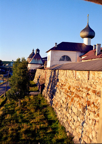 view on the Solovetsky Monastery wall by S.Stikine 