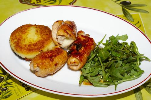 Turkey involtini with a potato cake by La belle dame sans souci