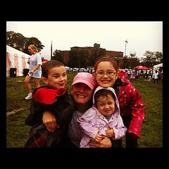 #RunForTheCure. Post race with the kids!