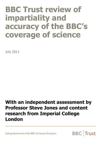 BBC Trust - Review of impartiality and accuracy of the BBC's coverage of science