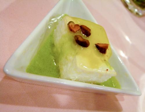 Canonigo with Pistachio Creme Anglaise at H Cuisine