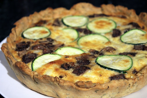 Courgette and Mushroom Quiche