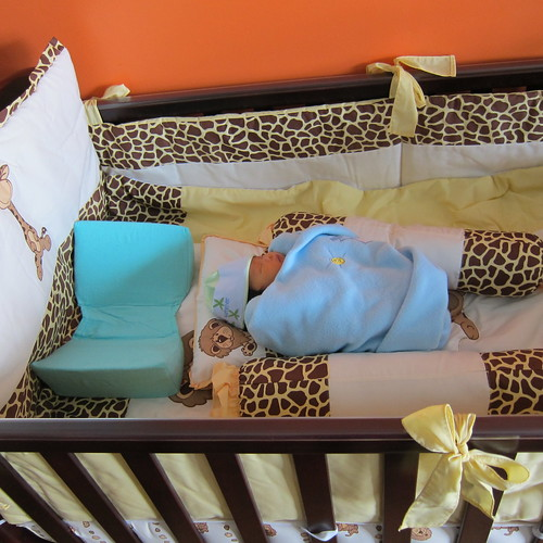 First time on his Crib