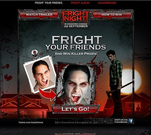 Singapore Lifestyle Blog, lifestyle blogger, movie reviews, the movie fright night, Fright Night, Nuffnang, advertorials, movies, fright your friends, fright your friends contest, vampires, vampire movie, movies, Fright your friends application