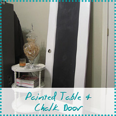painted table and chalk door