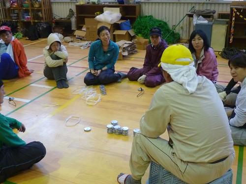 牡鹿半島大原でボランティア Volunteer at Ohara, Oshika Peninsula, Miyagi pref. Deeply Affected Area by the Tsunami