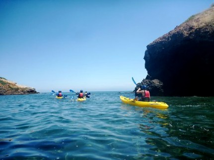 Kayaking in the Channel Islands