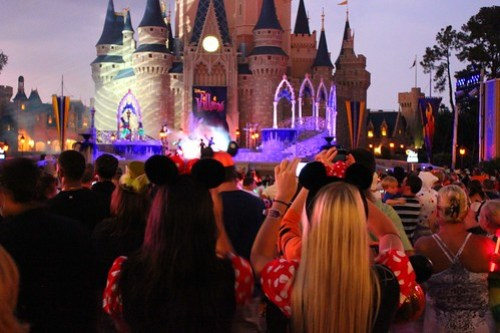 Cinderella Castle during Villains Mix and Mingle