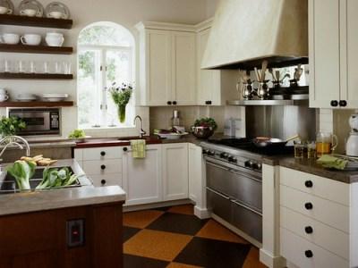 checkerboard kitchen floor cork