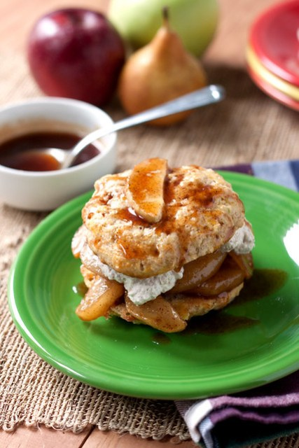 Spiced Apple and Pear Shortcakes