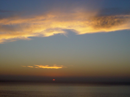 Sunset Over Pacific Ocean from Antofagasta