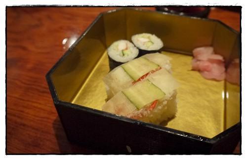 Crabmeat pressed sushi