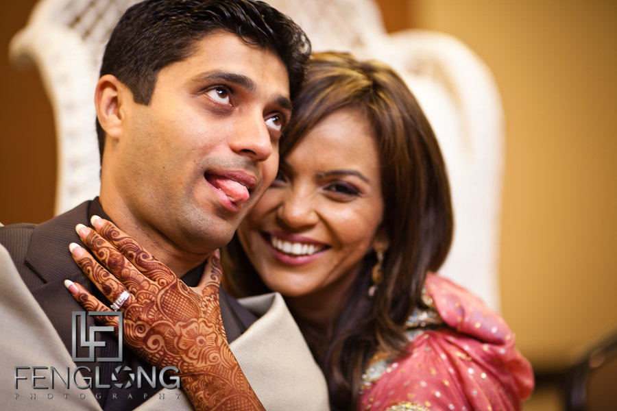 Bride & Groom Joking Around | Shamz & Sana's Wedding Day 2 | Hyatt Place Atlanta Airport South | Atlanta Indian Photographer