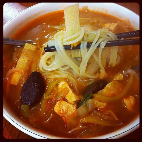 Spicy Korean Chicken Noodles